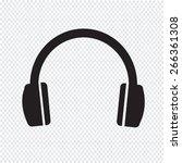 headphones icon | Shutterstock .eps vector #266361308
