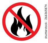 no fire vector sign | Shutterstock .eps vector #266365874
