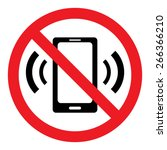 no cell phone sign | Shutterstock .eps vector #266366210