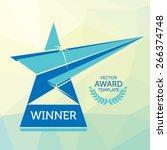 vector nomination award logo... | Shutterstock .eps vector #266374748