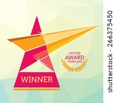 vector red nomination award... | Shutterstock .eps vector #266375450