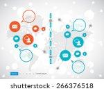 timeline infographics. vector... | Shutterstock .eps vector #266376518