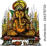 lord ganesha colour | Shutterstock .eps vector #266378720