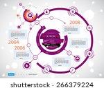 timeline infographics. vector... | Shutterstock .eps vector #266379224