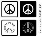 peace sign   vector | Shutterstock .eps vector #266381750