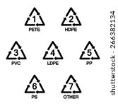 plastic recycling symbols | Shutterstock .eps vector #266382134