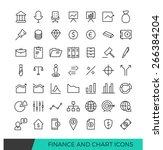 linear finance and chart line...   Shutterstock .eps vector #266384204