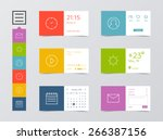 flat ui design kit. clock  user ...