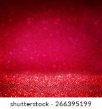 glitter vintage lights... | Shutterstock . vector #266395199