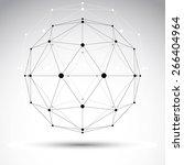 3d polygonal geometric...   Shutterstock . vector #266404964