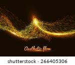abstract flame vector mesh...   Shutterstock .eps vector #266405306