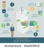 infographic template  money... | Shutterstock .eps vector #266405810