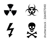 warning icon set | Shutterstock .eps vector #266407040