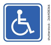 disabled handicap icon | Shutterstock .eps vector #266408366