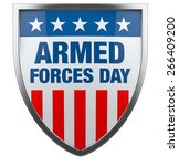 armed forces day usa | Shutterstock . vector #266409200