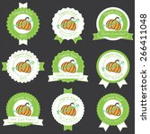 set of vintage label design.... | Shutterstock .eps vector #266411048