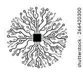 vector circuit  board abstract  ... | Shutterstock .eps vector #266420300
