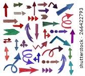 vector watercolor arrows  they... | Shutterstock .eps vector #266422793