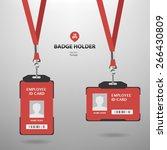 badge holder | Shutterstock .eps vector #266430809