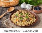 traditional uzbek meal called...   Shutterstock . vector #266431790