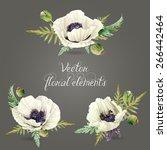 set of floral elements for... | Shutterstock .eps vector #266442464