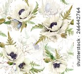 seamless pattern of watercolor... | Shutterstock .eps vector #266442764