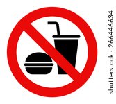 no eating and no drinks allowed ... | Shutterstock .eps vector #266446634