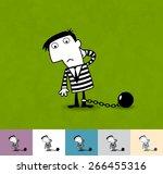 prisoner. business illustration ... | Shutterstock .eps vector #266455316