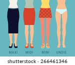 Set Of Various Skirts Against...