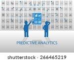predictive analytics vector... | Shutterstock .eps vector #266465219