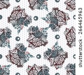 seamless abstract pattern in... | Shutterstock .eps vector #266465963