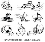Music Notes. Set Of Music...