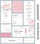 modern wedding set of printed... | Shutterstock .eps vector #266469440