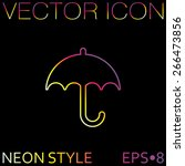 umbrella icon. protection from... | Shutterstock .eps vector #266473856