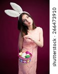 Beautiful Woman With An Easter...