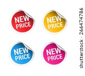 new price stickers | Shutterstock .eps vector #266474786