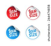 last size stickers | Shutterstock .eps vector #266474858