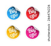 big offer stickers | Shutterstock .eps vector #266476226