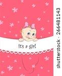 congratulation with newborn | Shutterstock .eps vector #266481143