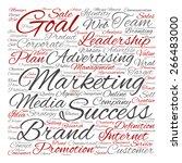 concept or conceptual text word ... | Shutterstock . vector #266483000