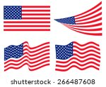 set of american flag | Shutterstock .eps vector #266487608