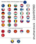 list of countries in the... | Shutterstock . vector #266490980