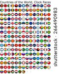 list of countries in the world  ... | Shutterstock . vector #266490983