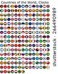 list of countries in the world  ... | Shutterstock . vector #266490989
