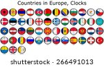 list of countries in europe ... | Shutterstock . vector #266491013