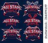 set of vintage sports all star... | Shutterstock .eps vector #266494199