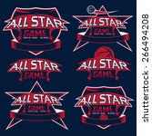 set of vintage sports all star... | Shutterstock .eps vector #266494208