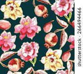 seamless pattern with... | Shutterstock .eps vector #266494466
