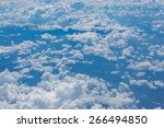 blue sky high view from... | Shutterstock . vector #266494850
