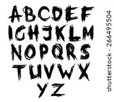 hand drawn font  brush stroke...   Shutterstock .eps vector #266495504